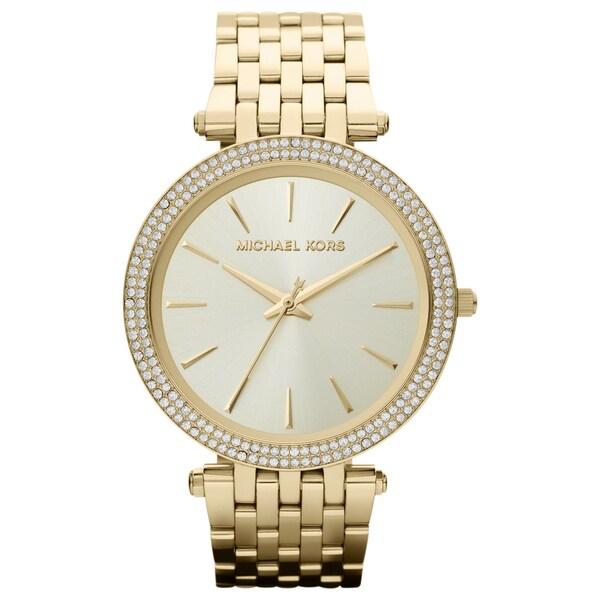 6d1d6603785e Michael Kors Women  x27 s Darci Gold-Tone Stainless Steel Bracelet Watch