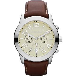 Michael Kors Men's Chronograph Mercer Mahogany Leather Strap Watch