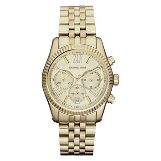 Michael Kors MK5556 Women's Chronograph Lexington Gold-Tone Stainless Steel Bracelet Watch