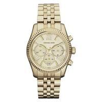 Michael Kors  Women's Chronograph Lexington Gold-Tone Stainless Steel Bracelet Watch