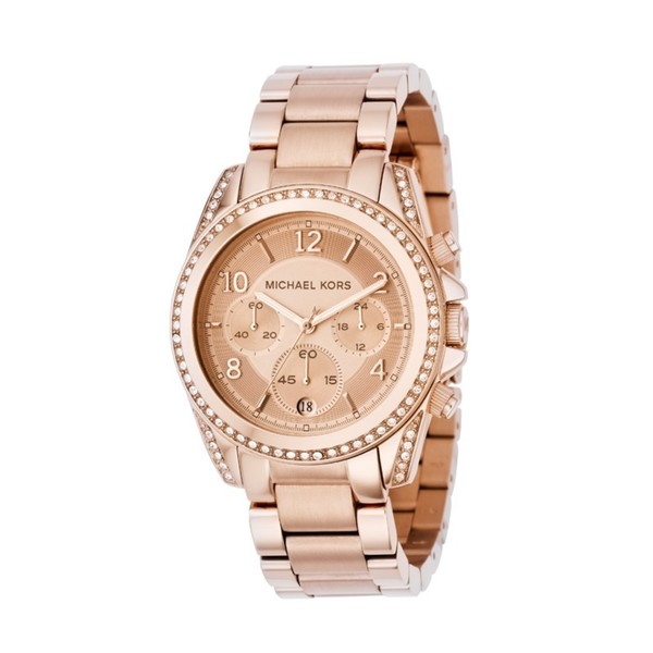 Michael Kors MK5263 Women's Chronograph Blair Rose Gold-Tone Stainless Steel Bracelet Watch