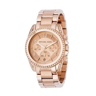 Michael Kors Women's Chronograph Blair Rose Gold-Tone Stainless Steel Bracelet Watch