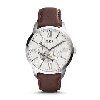 Fossil Men's ME3064 Townsman Automatic Leather Brown Watch