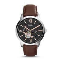 Fossil Men's  Townsman Automatic Leather Brown Watch