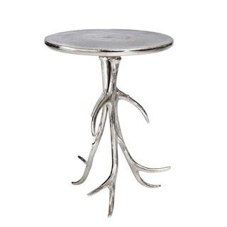Aurelle Home Vilson Antler Side Table Silver