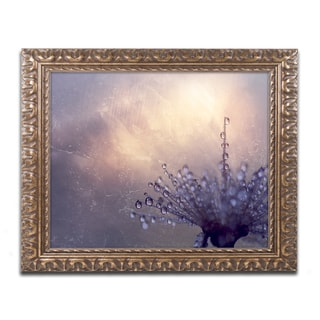 Beata Czyzowska Young 'All the Good Wishes' Antiqued Gold Wood Framed Canvas Art