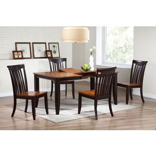 Iconic Furniture 5-piece Whiskey Mocha 36 x 52 x 67-inch Rectangle Modern Slatback Dining Set