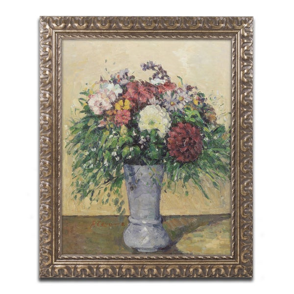 Shop Paul Cezanne Bouquet Of Flowers In A Vase Antiqued