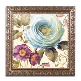 Lisa Audit 'Victorias Dream I' Antiqued Gold Wood Framed Canvas Art