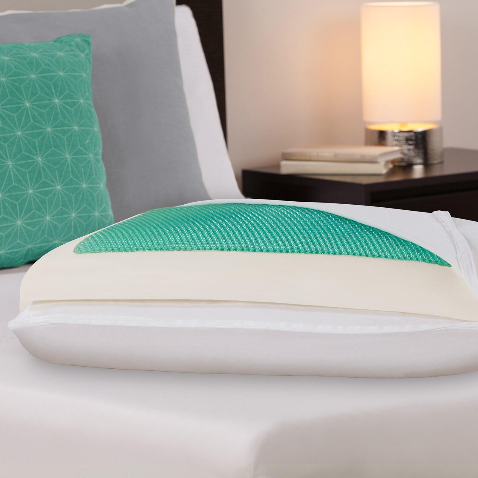 Comfort Memories Gel Memory Foam Bed Pillow (Queen)