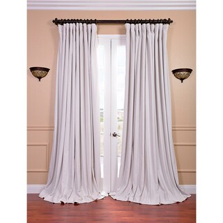 Exclusive Fabrics Off White Velvet Blackout Extra Wide Curtain Panel (100W x 84L) (As Is Item)