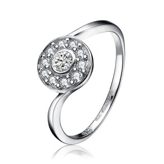 Collette Z Sterling Silver Round-cut Cubic Zirconia Ring - White