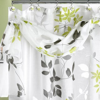 Flor Verde Shower Curtain and Hooks Set or Separates