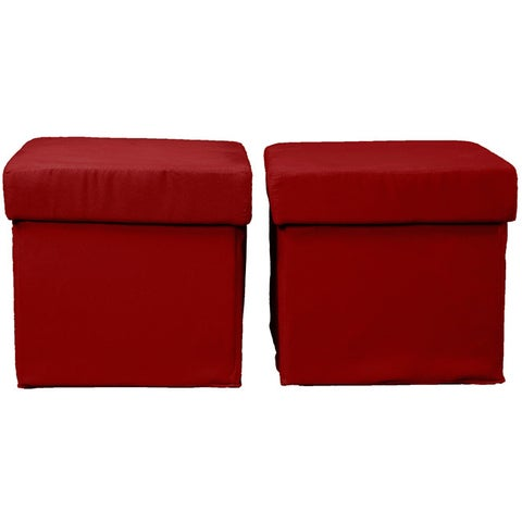 Vanderbilt Foldable 2-piece Foldable with Two Tray Tops Storage Ottoman /Table and Bench Set
