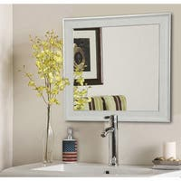 American Made Rayne Vintage White Wall/ Vanity Mirror - White/Silver