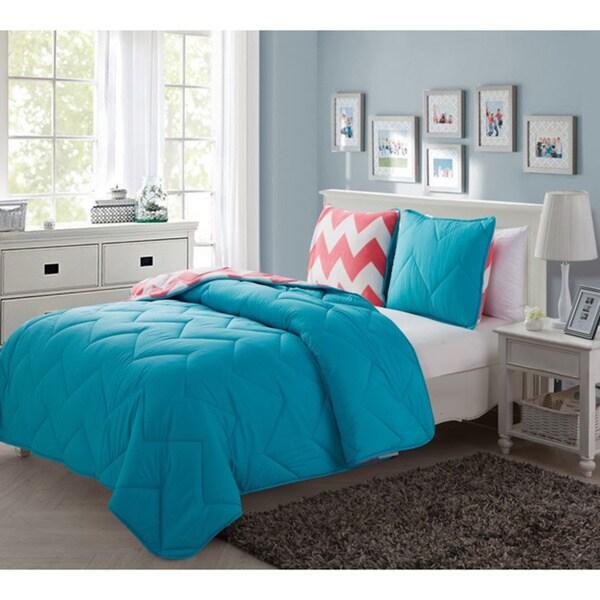 Juniper Plush Reversible 3-piece Comforter Set