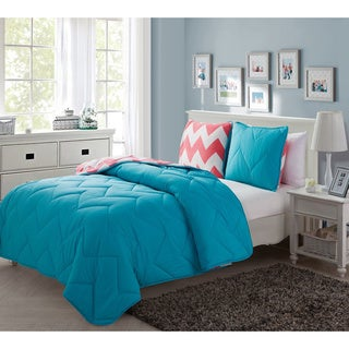 Juniper Plush Reversible 3-piece Comforter Set