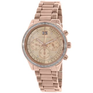 Michael Kors Women's MK6204 'Brinkley' Chronograph Crystal Rose-Tone Stainless Steel Watch