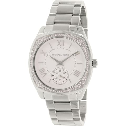 Michael Kors Women's MK6133 'Bryn' Crystal Stainless Steel Watch