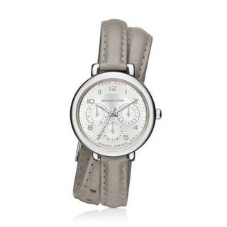 Michael Kors Women's MK2403 'Kohen' Chronograph Grey Leather Watch