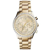 Michael Kors Women's MK6187 'Brinkley' Chronograph Crystal Gold-Tone Stainless Steel Watch