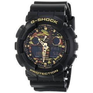 Casio Men's GA-100CF-1A9CR 'G-Shock' Chronograph Black Resin Watch|https://ak1.ostkcdn.com/images/products/10277672/P17393565.jpg?impolicy=medium