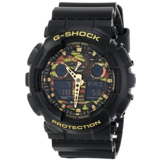 Casio Men's GA-100CF-1A9CR 'G-Shock' Chronograph Black Resin Watch