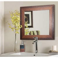 American Made Rayne Timber Estate Wall/ Vanity Mirror - Walnut