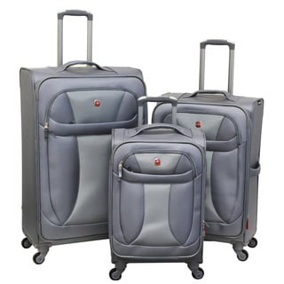 Wenger SwissGear Neo Lite Grey Expandable 3-piece Spinner Luggage Set