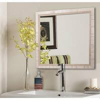 American Made Rayne Tuscan Ivory Wall/ Vanity Mirror - Off White