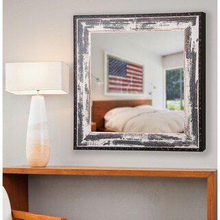American Made Rayne Rustic Seaside Wall/ Vanity Mirror - Antique White
