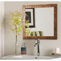 American Made Rayne Safari Bronze Vanity Wall Mirror - Bronze/Black