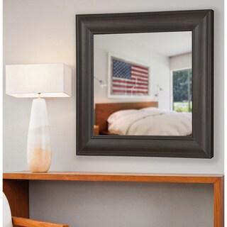 American Made Rayne Brazilian Walnut Wall/ Vanity Mirror - Dark Walnut