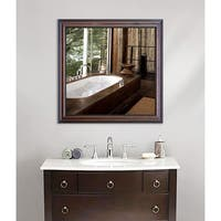 American Made Rayne American Walnut Wall Mirror