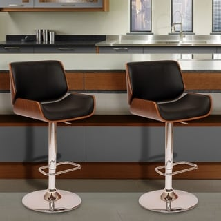 London Swivel Black Barstool