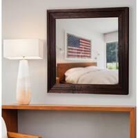 American Made Rayne Barnwood Brown Vanity Wall Mirror