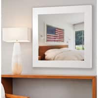American Made Rayne Glossy White Vanity Wall Mirror