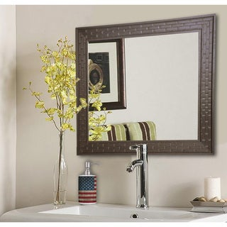 American Made Rayne Espresso Bricks Wall/ Vanity Mirror