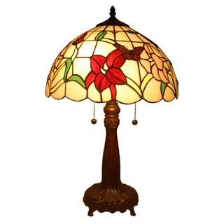 Amora Lighting Tiffany Style Floral Table Lamp