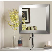 American Made Rayne Silver Wide Wall/ Vanity Mirror