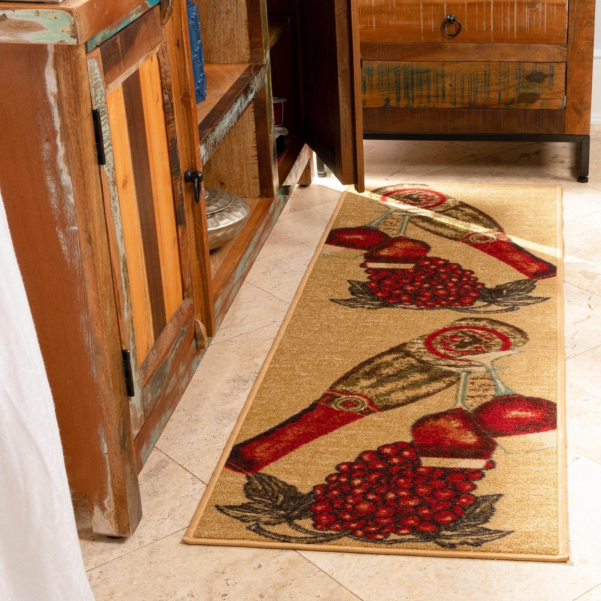 "Ottomanson Wine Bottles Runner Rug (20"" x 59"") (Wine Bott..."