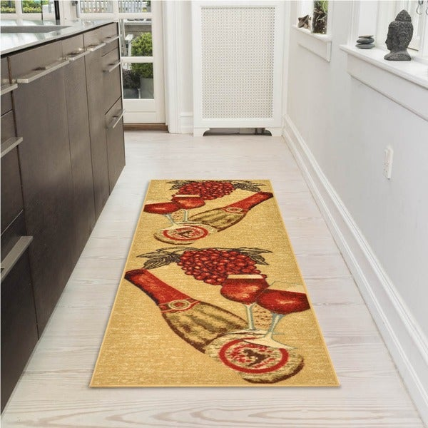Discounted Home Goods: Shop Ottomanson Wine Bottles Runner Rug
