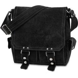 David King Leather Distressed Black Messenger Bag
