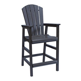 Generations Black Dining Adirondack Style Pub Arm Chair