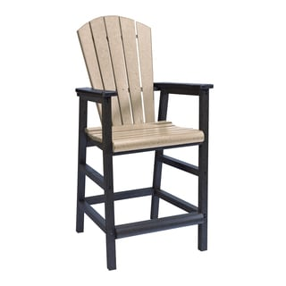 Generations Beige-Black Dining Adirondack Style Pub Arm Chair