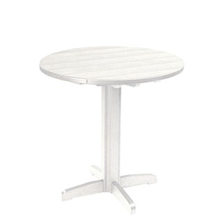 generations yellow 37 inch round pub height pedestal table 17395089
