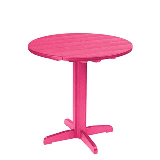 Generations Pink 37-inch Round Pub Height Pedestal Table