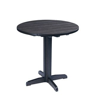 Generations Black 37-inch Round Pub Height Pedestal Table