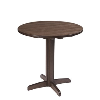 Generations Brown 37-inch Round Pub Height Pedestal Table