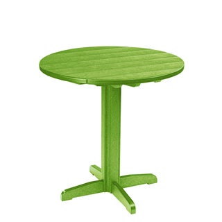 Generations Green 37-inch Round Pub Height Pedestal Table